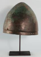 Greek Bronze Inscribed Pilos Helmet
