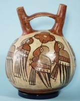 Nazca Double-Spout Hummingbird Vessel