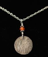 Byzantine Silver Coin Pendant Necklace