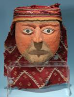 Huacho Carved Wood Mask with Woven Headband