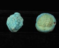 Two Egyptian Faience Grape Bunch Amulets