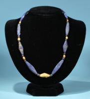 Sumerian Lapis Lazuli and Gold Necklace