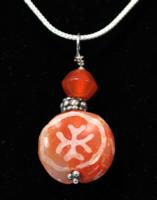 Sassanian Etched Carnelian Bead