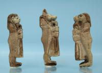 Three Egyptian Faience Amulets: Sons of Horus