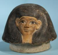 Egyptian Terracotta Canopic Jar Lid: Imsety