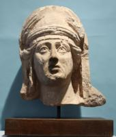 Roman Limestone Head of a Woman