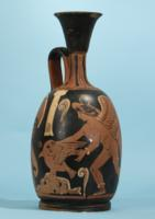 Campanian Red-Figure Squat Lekythos: Ixion Painter