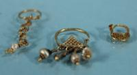Three Roman Gold Earrings