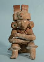Michoacan Terracotta Seated Male Figure