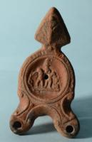 Roman Double Spouted Oil Lamp