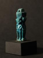 Egyptian Faience Amulet of Amun-Re and Horus