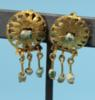 Roman Gold and Glass Bead Earrings