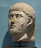Roman Limestone Head of a Man
