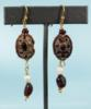 Nabataean Gold Scarab Earrings