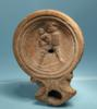Roman Terracotta Oil Lamp: Gladiator