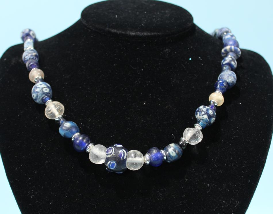 Byzantine Blue Glass Necklace