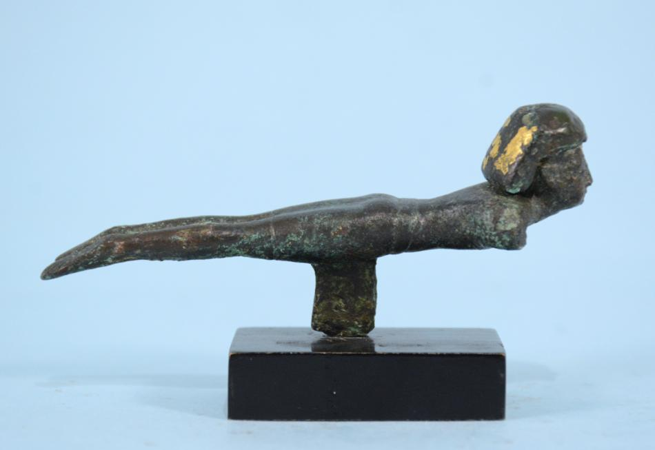 Egyptian Bronze Male Figure