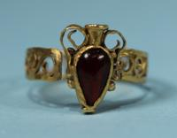 Roman Gold and Garnet Ring