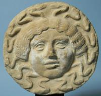 Greek Terracotta Antefix: Gorgon