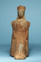 Greek Terracotta Enthroned Goddess