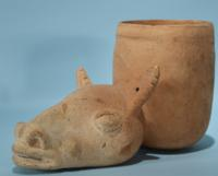 Chancay Cup in the Form of a Llama Head