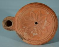 Roman Oil Lamp: Flower